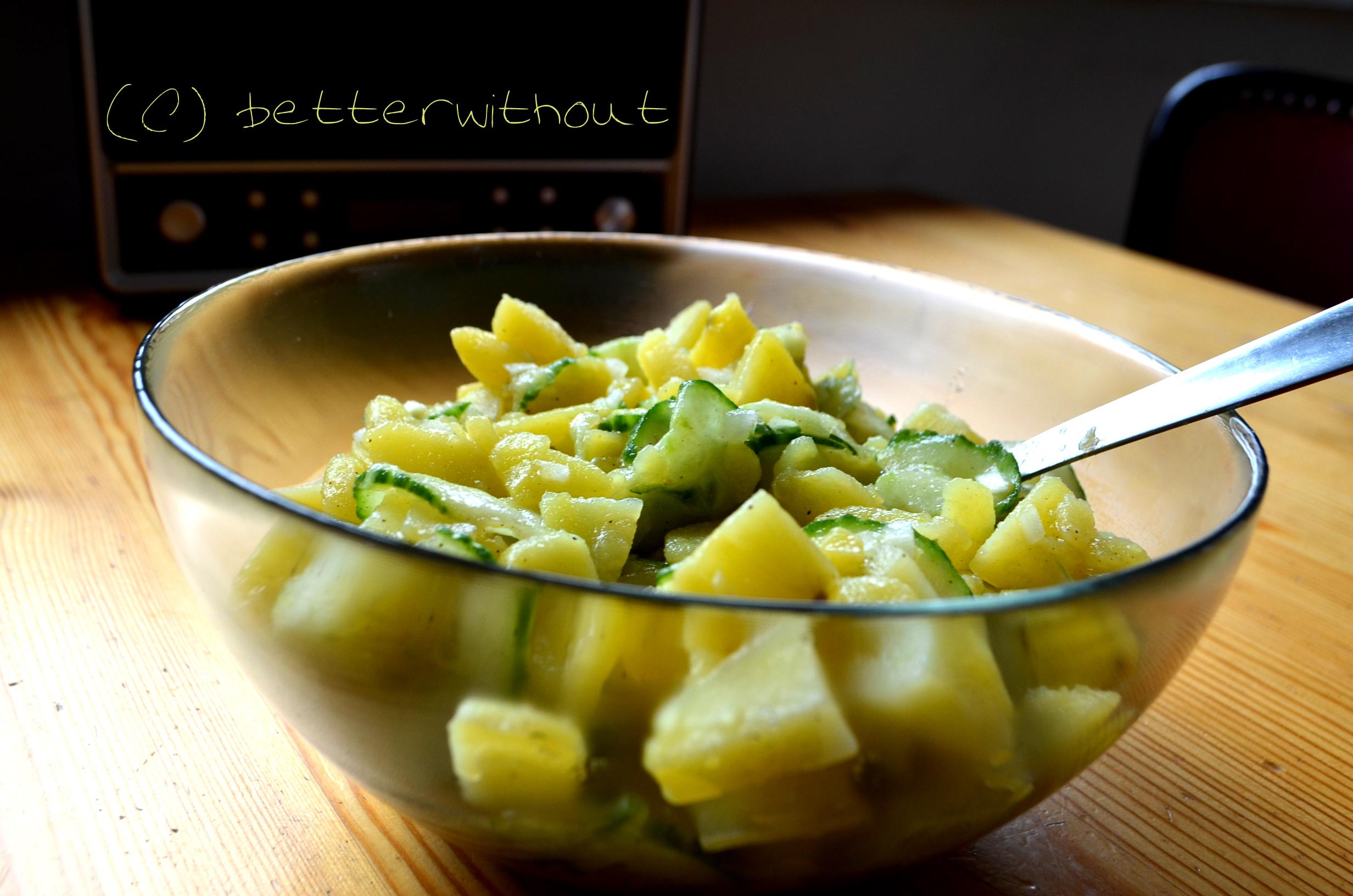 Gluten- und laktosefreier Kartoffelsalat