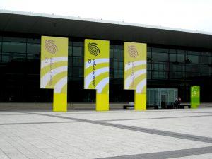Ankunft bei der Messe Stuttgart