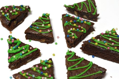 weihnachtliche glutenfreie Brownies