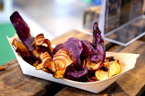 Süßkartoffelchips auf der #veggiefreivon16