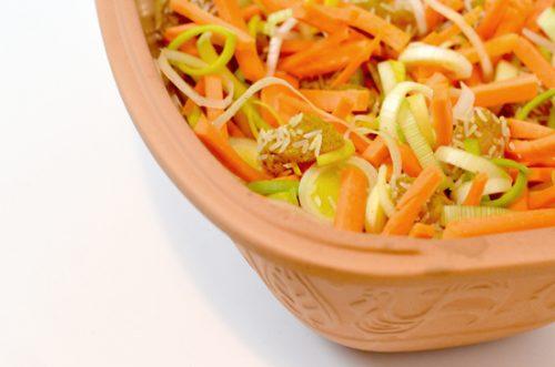 Puten Gemüsecurry aus dem Römertopf