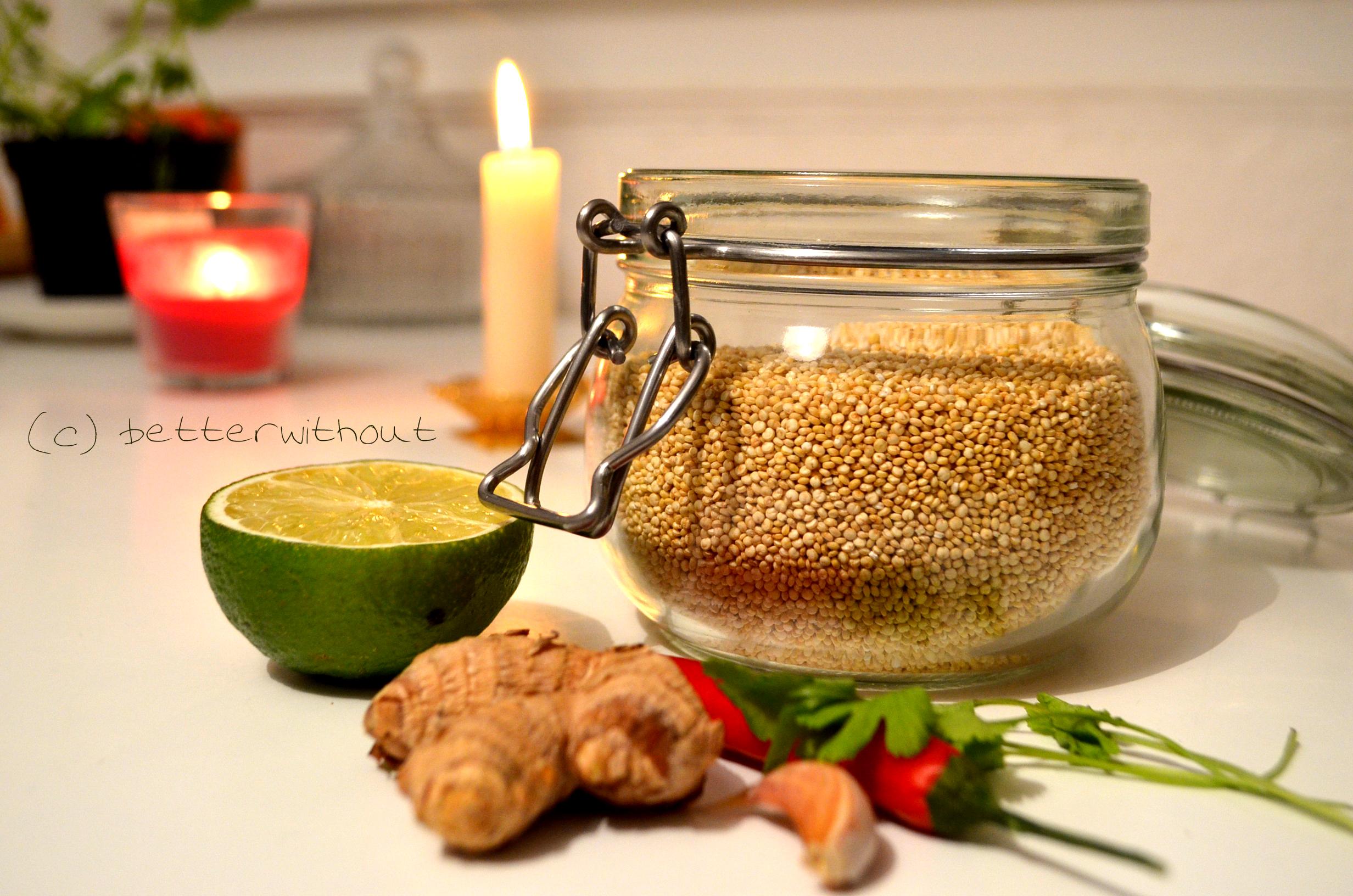 Gefüllte Paprika mit Quinoa - Zutaten